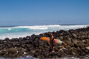 Title: Albee Over the Rocks Location: Hawaii Surfer: Layer, Albee Type: Action
