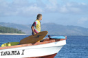 Title: Donovan On Boat Location: Fiji Surfer: Frankenreiter, Donavan Type: Lifestyle