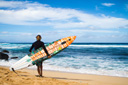 Title: Meola with Surfboard Location: Hawaii Surfer: Meola, Matt Type: Action