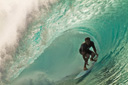 Title: Nathan Slotted At Pipeline Surfer: Fletcher, Nathan Type: Barrel