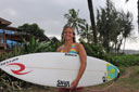 Title: Pauline with Board Surfer: Ado, Pauline Type: Portraits