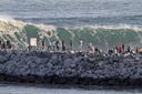 Title: Big Wedge Crowd Location: California Photo Of: stock Type: Big Waves