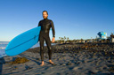 Title: Devon with Board Surfer: Howard, Devon Type: Portraits