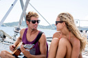 Title: Eric and Bree on Boat Surfer: Geiselman, Eric Type: Lifestyle