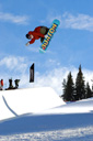 Title: Half-Pipe Air Location: Colorado Photo Of: stock Type: Extreme Sports