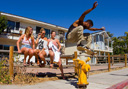 Title: Skater Fire Hydrant Ollie Photo Of: stock Type: Extreme Sports