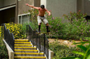Title: Skater Handrail Boardslide Photo Of: stock Type: Extreme Sports