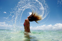 Title: Frankie Hair Flick Location: Fiji Surfer: Harrer, Frankie Type: Lifestyle