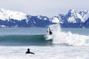 Title: Ian Frees the Fins Location: Alaska Surfer: Walsh, Ian Type: Action