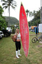 Title: Jamilah with Board Surfer: Star, Jamilah Type: Portraits