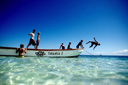 Title: Groms on Boat Location: Fiji Photo Of: stock Type: Kids