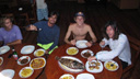 Title: Surfer Group Dinner Location: Indonesia Photo Of: stock Type: Lifestyle