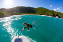 Title: Geisleman Jumping Off Boat Location: Caribbean Photo Of: stock Type: Lifestyle