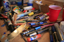 Title: Paint Supplies Location: Hawaii Photo Of: stock Type: Lifestyle