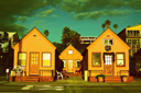 Title: Oceanside Houses Photo Of: stock Type: Landscapes