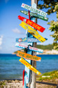 Title: Tortola Road Signs Photo Of: stock Type: Landscapes