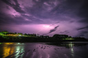 Title: Nicaragua Purple Lightning Photo Of: stock Type: Landscapes