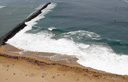 Title: The Wedge Aerial Location: California Photo Of: stock Type: Lineups