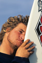 Title: Occy with Board Surfer: Occhilupo, Mark Type: Portraits