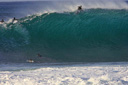 Title: Backdoor Paddle Over Location: Hawaii Photo Of: stock Type: Big Waves