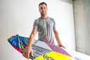 Title: Parko and Surfboard Surfer: Parkinson, Joel Type: Portraits