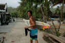 Title: Rizal with Board Surfer: Tanjung, Rizal Type: Portraits