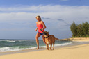 Title: Rosy Jogging with Dog Surfer: Hodge, Rosy Type: Portraits