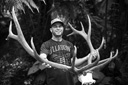 Title: Dorian Antlers Black and White Surfer: Dorian, Shane Type: Portraits