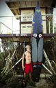 Title: Slater with Board Surfer: Trout, Slater Type: Portraits