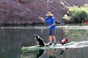 Title: SUP with Dog Location: Nevada Photo Of: stock Type: Stand Up Paddle